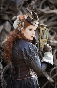 steampunk lady with a gun